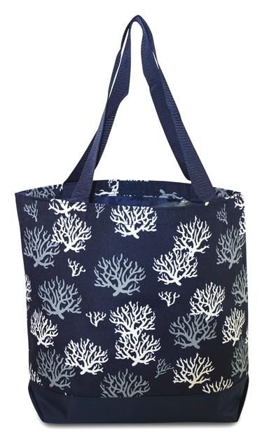 Sea Coral Tote Bag 17 inch - orangeshine.com