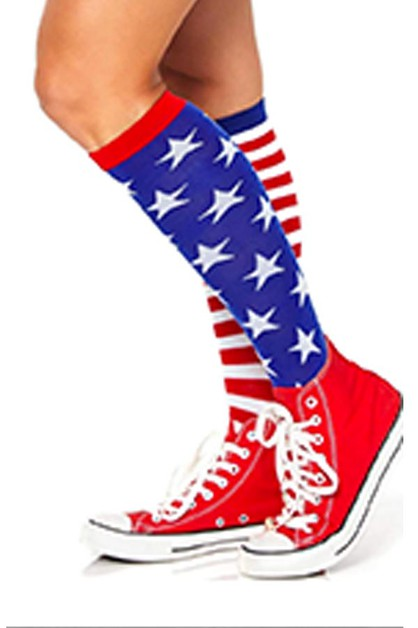 Stars and Stripes Knee High Socks - orangeshine.com