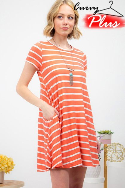 STRIPE SWING DRESS - orangeshine.com