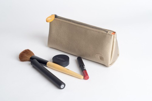 Cosmetics Pouch in Vegan Leather - orangeshine.com