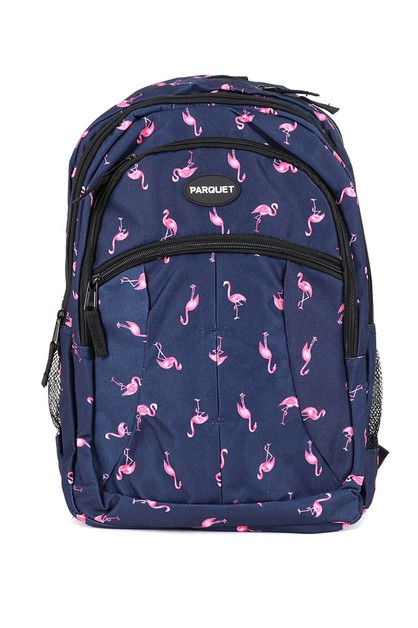 Flamingo Navy Novelty Backpack - orangeshine.com