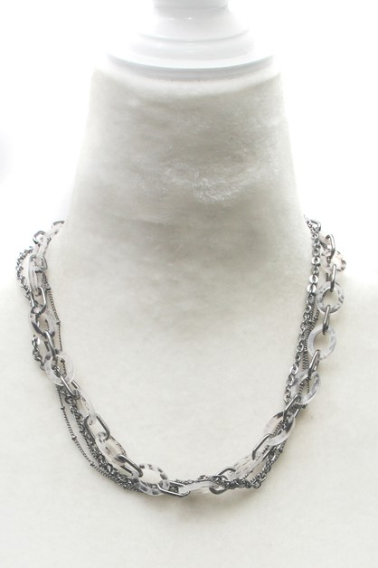 CHAIN LINK NECKLACE  - orangeshine.com