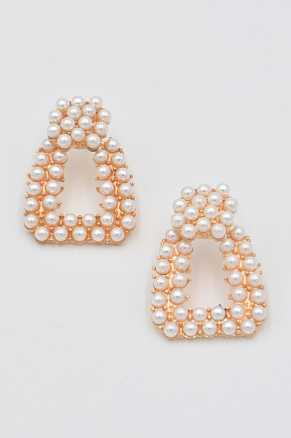 Pearl Beads Stud Earrings - orangeshine.com