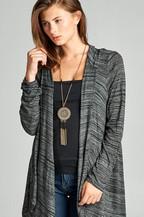 Plus Size Asymmetric Cardigan Hoodie - orangeshine.com