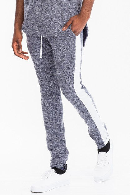 SKINNY STATIC STRIPE TRACK PANTS - orangeshine.com