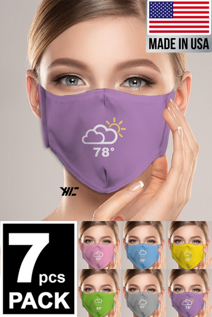 Women 7 Designed Washable Mask - orangeshine.com