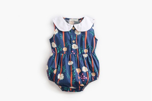 Girls Floral romper - orangeshine.com