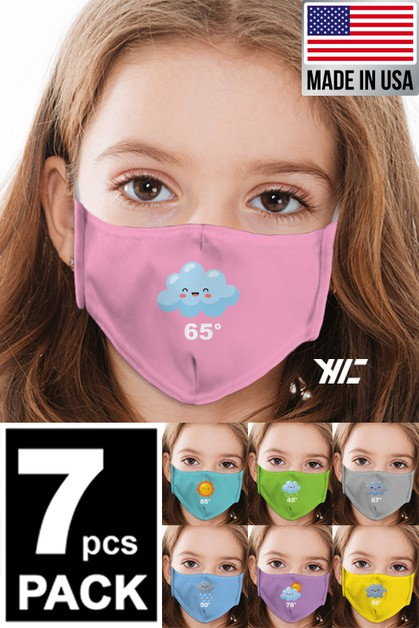 Kids 7 Designed Washable Mask - orangeshine.com