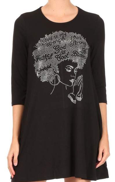 God is My Strength Afro Tunic - orangeshine.com