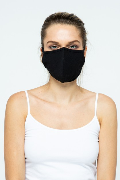 Black Fabric Face Mask - 12 Pack - orangeshine.com