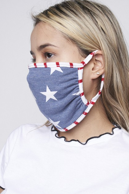 stars and stripe face mask - orangeshine.com