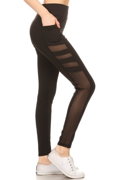 Mesh yoga legging - orangeshine.com