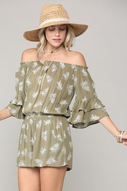 BOHO INSPIRED OFF SHOULDER ROMPER - orangeshine.com