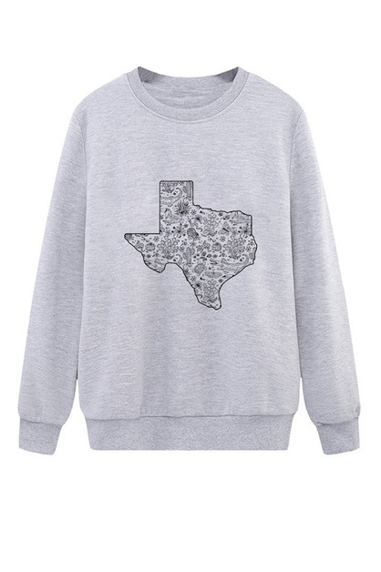 TEXAS MAP SWEATER - orangeshine.com