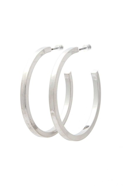 METAL OPEN HOOP EARRING - orangeshine.com