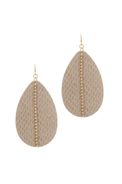 METAL BEAD TEARDROP SHAPE EARRING - orangeshine.com