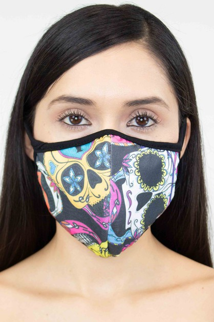 FACE MASK WITH PRINTS - orangeshine.com