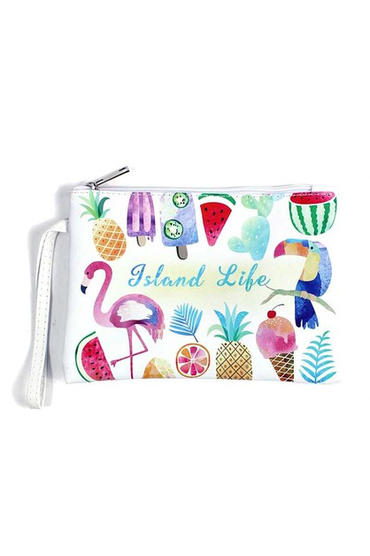 ISLAND LIFE POUCH WITH STRAP - orangeshine.com