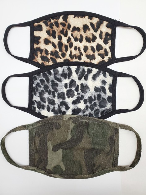 ANIMAL AND CAMO PRINT FASHION MASK - orangeshine.com