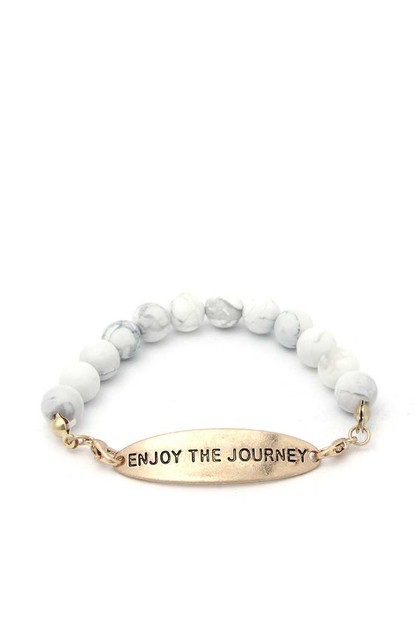 ENJOY THE JOURNEY BEADED BRACELET - orangeshine.com