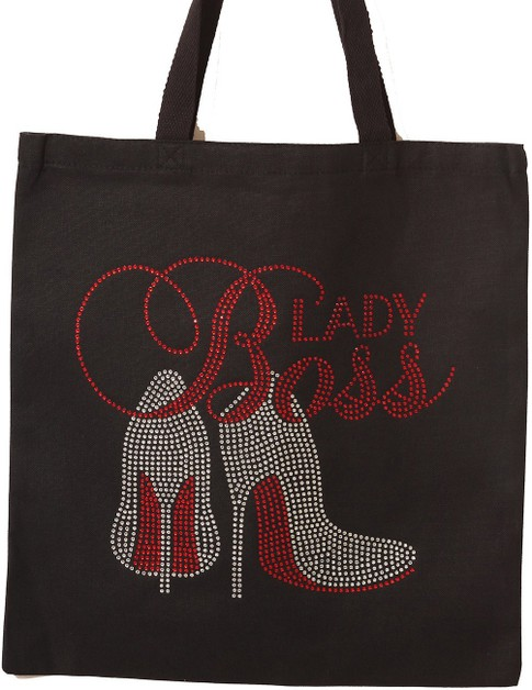BOSS LADY with Red shoes Rhinestone  - orangeshine.com
