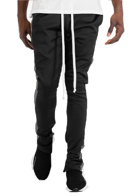 SLIM SINGLE STRIPE TRACK PANT - orangeshine.com