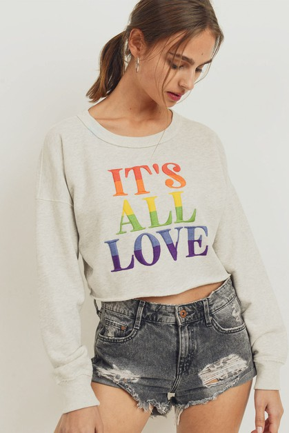 Rainbow Embroidery Crop Top  - orangeshine.com