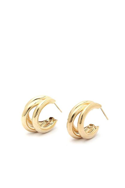 SODAJO TRIPLE HOOP METAL EARRING - orangeshine.com
