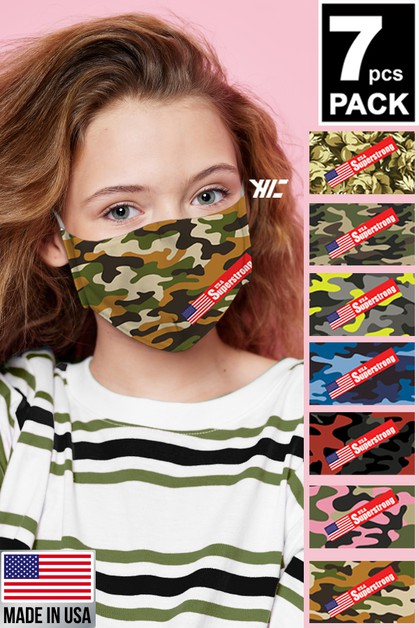 Kids Camouflage 7 Designed Washable  - orangeshine.com