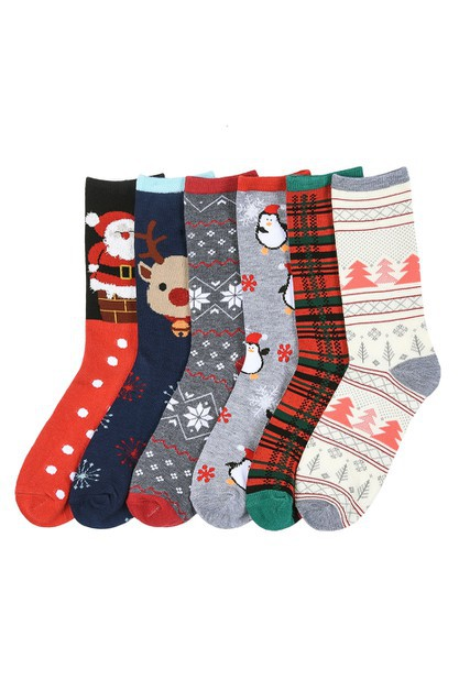 Holiday Socks  - Set of 6  - orangeshine.com