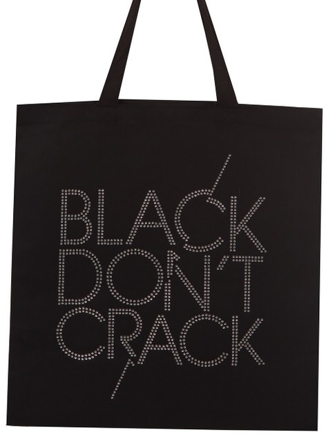 BLACK DON`T CRACK Clear Rhinestone C - orangeshine.com