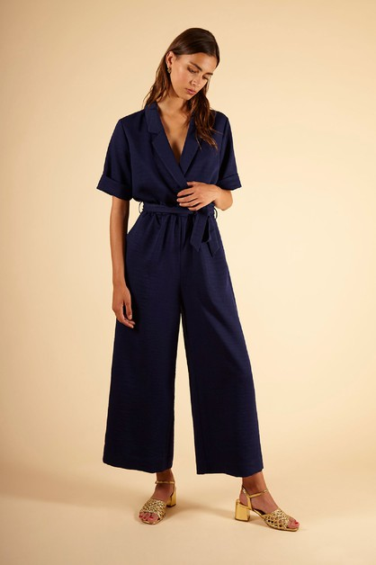 MANOLA - WOMENS WOVEN JUMPSUIT - orangeshine.com