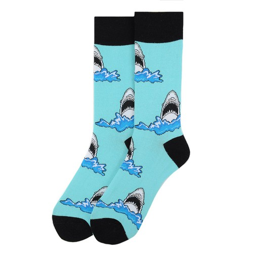 Mens Shark Novelty Socks  - orangeshine.com
