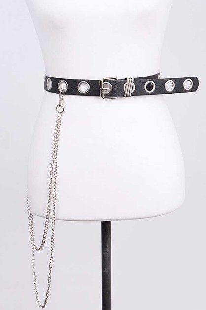 Wallet Chain Detail Fashion Belt - orangeshine.com