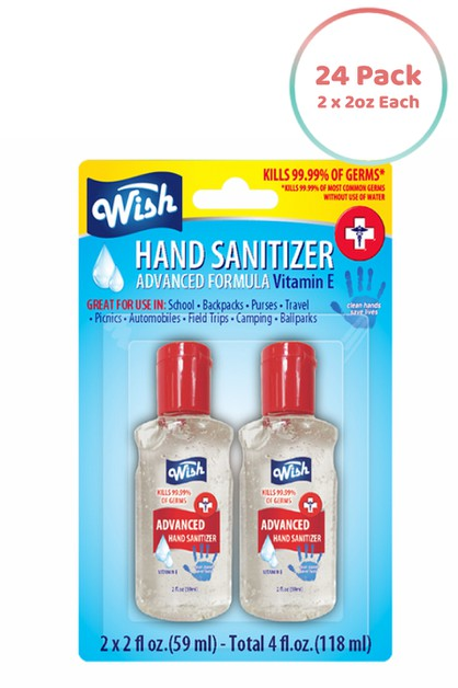Wish Hand Sanitizer 2oz - Pack of 24 - orangeshine.com