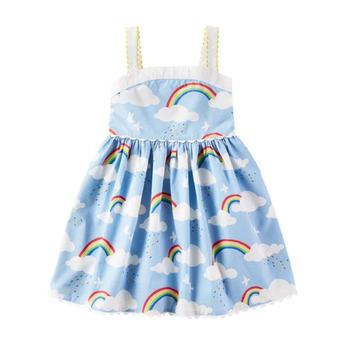 Girls Rainbow Strap Dress - orangeshine.com