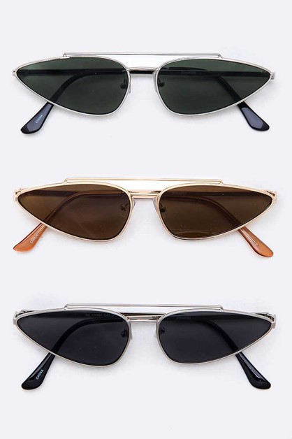 Iconic Triangle Skinny Sunglasses  - orangeshine.com