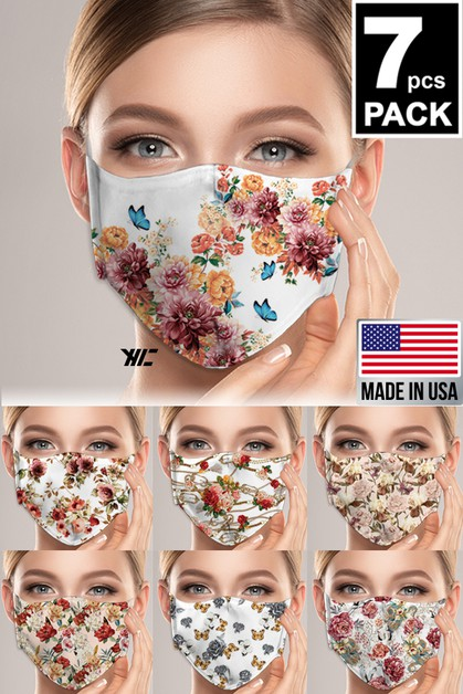 Women7 Floral Designed Washable Mask - orangeshine.com