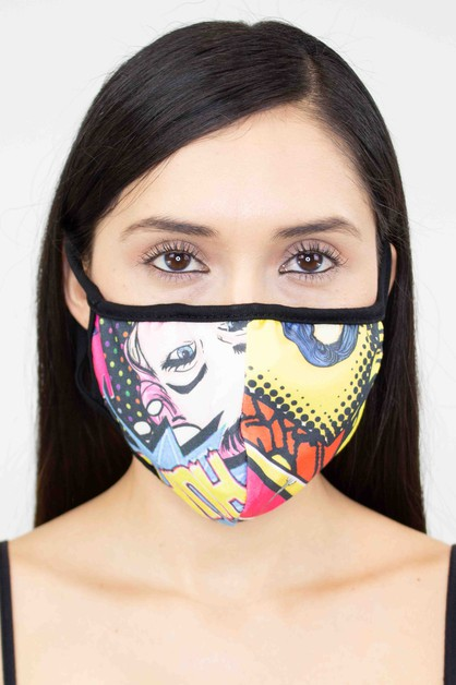 FACE MASK WITH PRINT - orangeshine.com