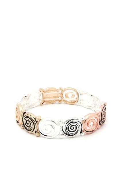 SWIRL METAL STRETCH BRACELET - orangeshine.com