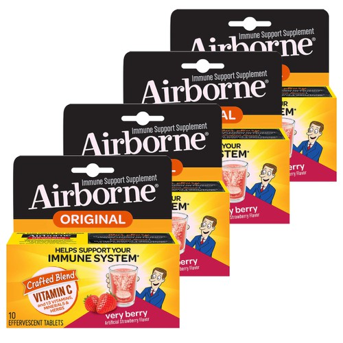 Airborne Very Berry Pack of 4 - orangeshine.com