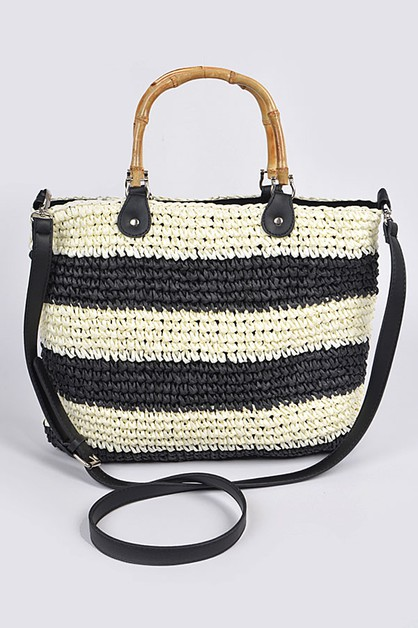 Stripe Cross Body Bag - orangeshine.com