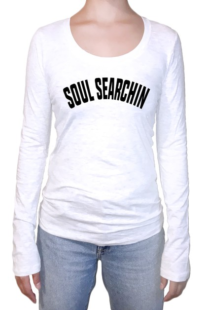 Soul Searchin Long Sleeve Top - orangeshine.com