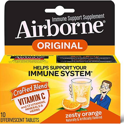 Airborne Zesty Orange Vitamin C 10pc - orangeshine.com
