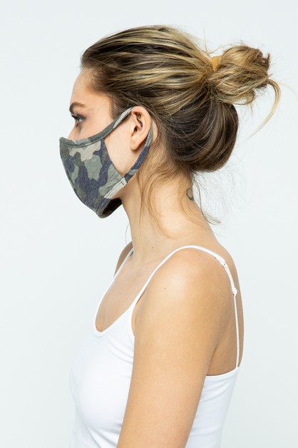 Camo Fabric Face Mask - 12 Pack - orangeshine.com