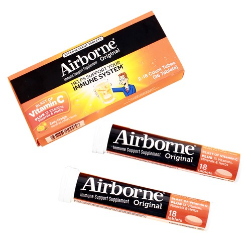 Airborne Zesty Orange 2 Tubes 1 Pack - orangeshine.com