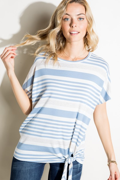ENGINEERING STRIPE FRONT TIE TOP - orangeshine.com