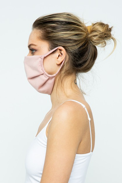 Pink Fabric Face Mask - 12 Pack - orangeshine.com