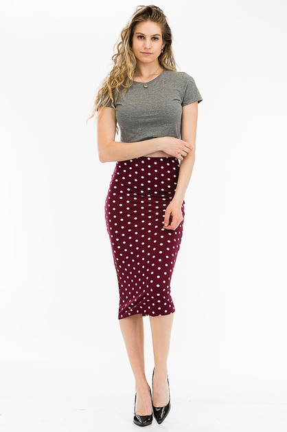 Polka Dot Skirt - orangeshine.com