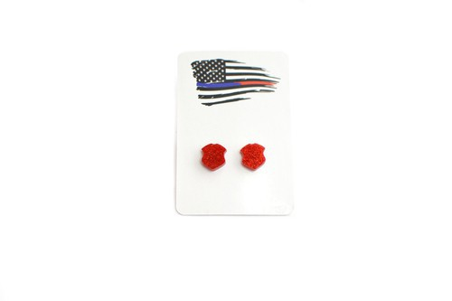 Fireman Red Badge Studs - orangeshine.com
